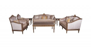 Rhodes Sofa Set 3+2+1+1 With Tables