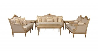 Reeves Sofa Set 3+2+1+1 With Tables