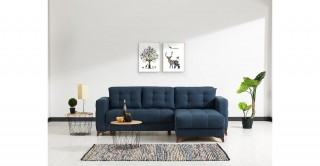 Elza Blue Corner Sofa and Sofa Bed