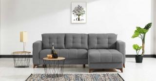 Elza Grey Corner Sofa