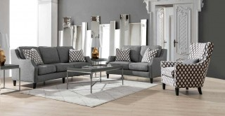 Kiev  Sofa Set Grey
