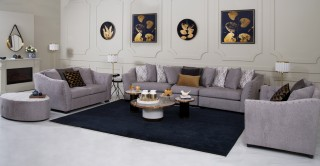 Vancouver Sofa Set With Pouf