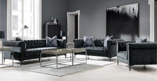 Auckland  Sofa Set Grey