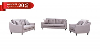 Pearl  Sofa Set Taupe