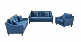 New Pearl Sofa Set Blue