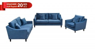 New Pearl Sofa Set Blue