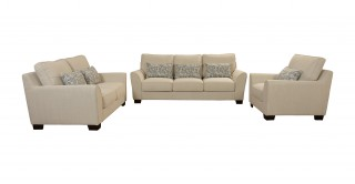 Thompson  Sofa Set White