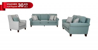 Roswell Green Sofa Set