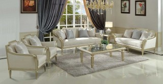 Vienna Sofa Set 3+2+1+1 With Tables