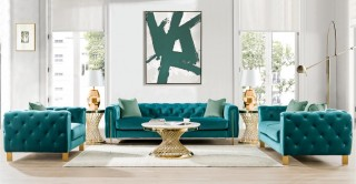 Lisbon  Sofa Set Green