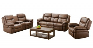Santiago Sofa Set Brown
