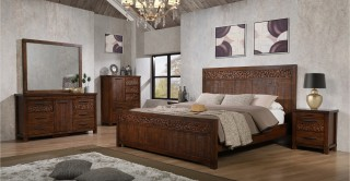 Noir Bedroom Set With Chest Of Drawers