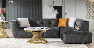 Baku Corner Sofa, Grey