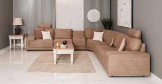 Macau Corner Sofa - Brown