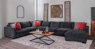 Miami Corner Sofa - Dark Grey + Free UHD SMART TV