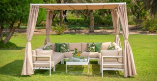 Palermo Corner Sofa Set With Gazebo