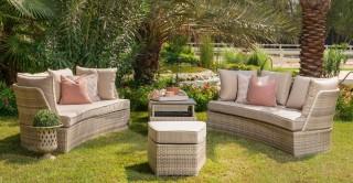 Vistaa Sofa Set With Coffee Table and Ottoman