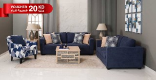 Wanoma Sofa Set Blue