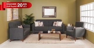 Stockholm Sofa Set, Grey