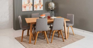Chara Dining Set, Light Grey