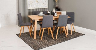 Chara Dining Set, Dark Grey