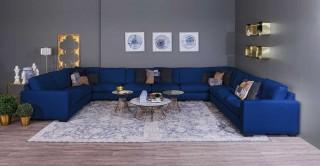 Miami Corner Sofa - Dark Blue + Free UHD SMART TV