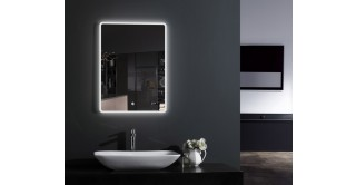 Spade Wall Mirror With Light & Digital Clock