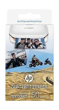 photo about Hewlett Packard Printable Cards titled HP Zink Sticky-subsidized Paper 50 sheets (1RF43A) - White