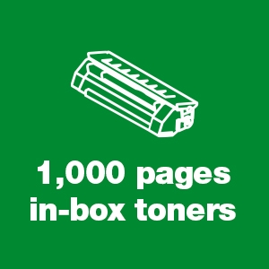 1,000 pages in-box toners