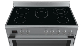 The electric Range Cooker with up to 8 heating modes and glass-ceramic hob