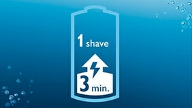 3 minute quick charge for one shave