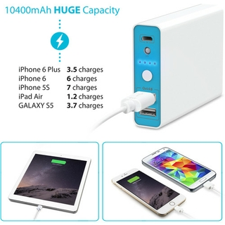 10400mAh of Power to Charge Your Device