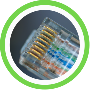 Rj45 Plugs With Gold-Plated Contacts For A Clear Signal