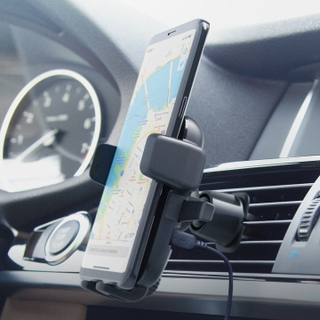 Easy One Touch Wireless Fast car charger air vent phone Holder