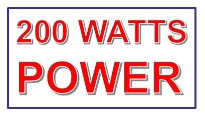 Powerful 200 Watts Motor