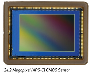 24.2 Mega Pixel (APS-C) CMOS sensor