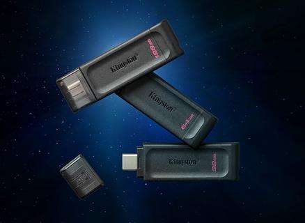 Kingston DataTraveler 70 USB 3.2 Gen 1 USB-C Flash Drive
