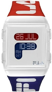 Fila 47mm Gent's Digital Rubber Sports Watch (38105005) - White