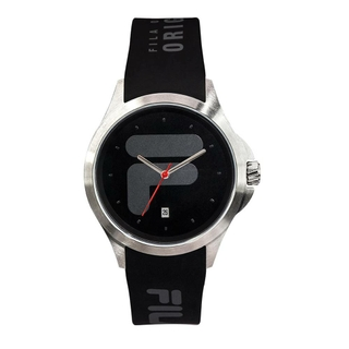 Fila 40mm Unisex Analogue Rubber Sports Watch (38181001) - Black