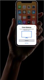 توازن الألوان. خليها على iPhone.