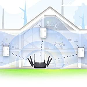 تغطية كاملة لشبكة Wi-Fi.
