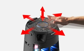 Vertical and horizontal Gesture Control