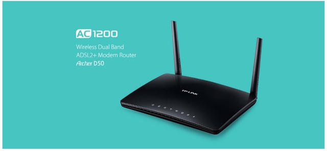 TP-Link Archer D50 | Wireless Dual Band ADSL2 + Modem Router