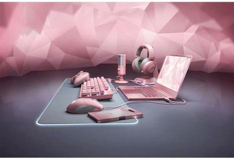 Razer Base Station Chroma Headphone Stand w/ USB Hub - Quartz Pink