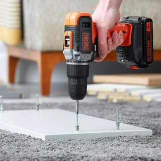 High performing cordless 18V lithium-ion 2 speed hammer drill