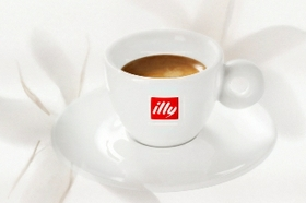 Freshly Brewed Cup Of Illy Coffee