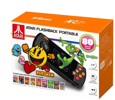 """2.8 """"LCD game player with 70 classic Atari 2600 games built-in"""