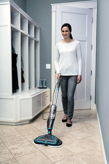 Power spin mop pads reduce cleaning effort