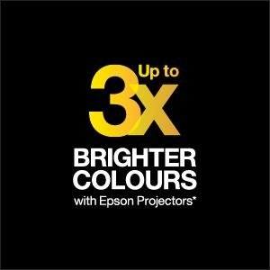 Up To Three Times Brighter Colours With Epson Projectors
