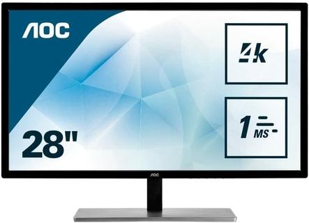 شاشة احترافية مقاس 28 بوصة بدقة فائقة الوضوح 4K للحصول على تفاصيل غنية